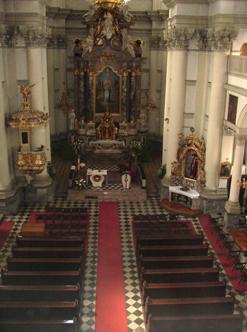 Prezbiterij uršulinske cerkve